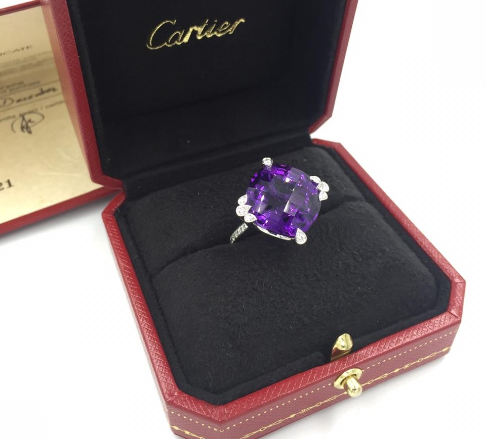 Cartier Diamond Amethyst